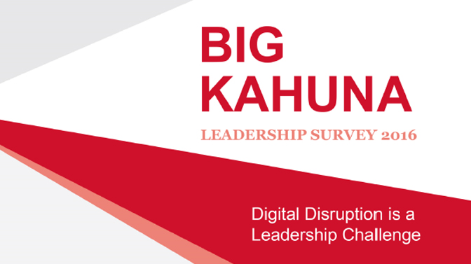 Big Kahuna Leadership Survey White Paper 2016